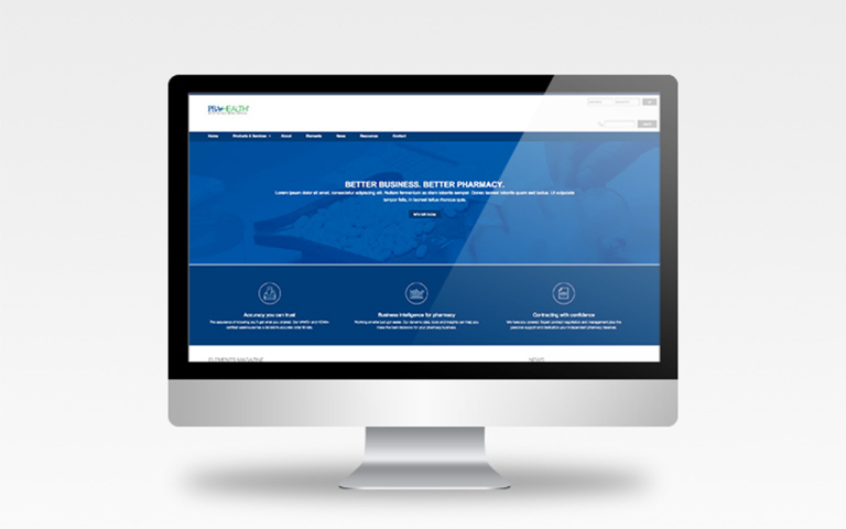 Overall website redesign for PBA Health